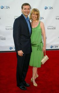 Phil Rosenthal and Monica Horan at the Everybody Loves Raymond Series Wrap Party.