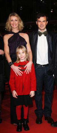 Alexandra Lamy, Melusine Mayance and director Francois Ozon at the premiere of
