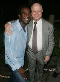 Norm Lewis and producer Jerry Schoenfeld at the after party of the opening of