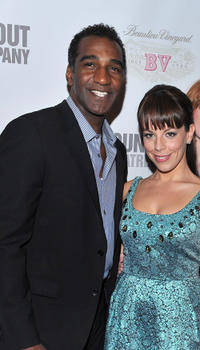 Norm Lewis and Leslie Kritzer at the after party of the Broadway Opening Night of