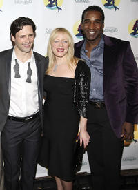 Sean Palmer, Sherie Rene Scott and Norm Lewis at the after party of the Broadway Opening Night of