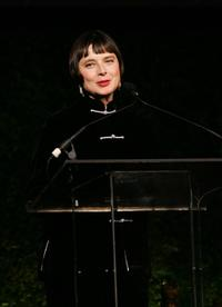 Isabella Rossellini at the New Yorkers For Children annual fall gala dinner.