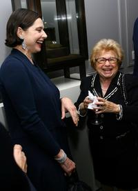 Isabella Rossellini and Dr. Ruth at the Leview store opening.