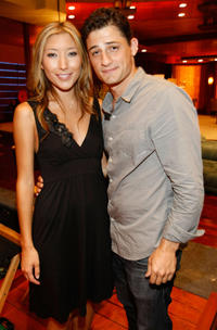 Dichen Lachman and Enver Gjokaj at the press conference of