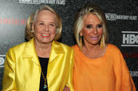 Liz Smith and President of HBO Documentary Films Sheila Nevins at the New York premiere of