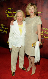 Liz Smith and Christine Baranski at the Broadway opening of