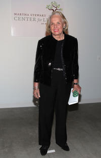 Liz Smith at the 2nd Annual Martha Stewart Center for Living Gala in New York.
