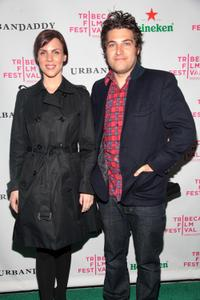 Sarah Burns and Adam Pally at the after party of