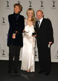 Director Louise Osmond, Andrea Roth and John Smithson at the 36th Annual International Emmy Awards.