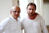 Claudio Gubitosi and Tim Roth at the Giffoni Film Festival.