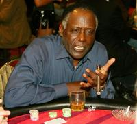 Richard Roundtree at the Legends Celebrity Invitational Charity Poker Tournament.