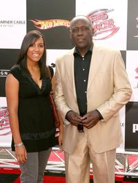 Richard Roundtree and his daughter Morgan at the world premiere of