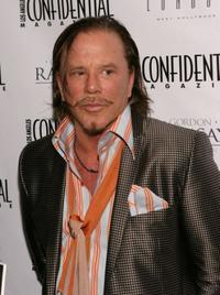 Mickey Rourke at the Niche Media's Los Angeles Confidential Magazine Golden Globe Celebration.