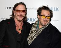 Mickey Rourke and Julian Schnabel at the special screening of