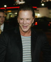 Mickey Rourke at the premiere of