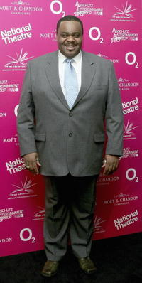 Clive Rowe at the National Theatre: Fast Forward reception.