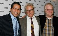 John Ortiz, John Gould Rubin and Phillip Seymour Houffman at the Labyrinth Theater Company's 5th annual Celebrity Charades.