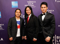 Director Ron Morales, Leon Miguel and Arnold Reyes at the New York premiere of