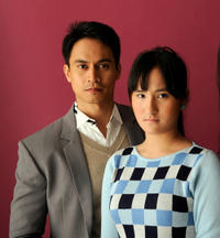 Arnold Reyes and Ella Guevara at the portrait session of