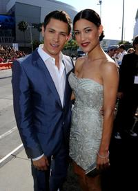 Alex Meraz and Julia Jones at the premiere of