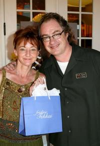 Bonita Friedericy and John Billingsley at the Frederic Fekkai Salon and Spa booth during the Frederic Fekkai Pre-Emmy