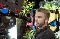 Director Peter Billingsley on the set of
