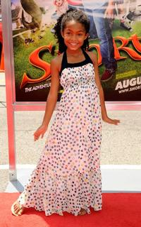 Yara Shahidi at the premiere of