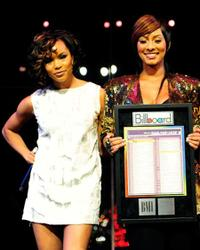 LeToya Luckett and Keri Hilson at the BMI Urban Awards.