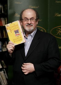 Salman Rushdie at the promotion of