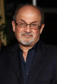 Salman Rushdie at the after party of the premiere of