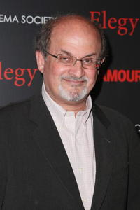 Salman Rushdie at the screening of