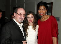 Salman Rushdie, Chiara Clemente and Pia Glenn at the premiere of
