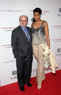 Salman Rushdie and Guest at the screening of
