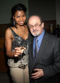 Pia Glenn and Salman Rushdie at the screening of