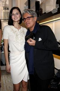 Anna Safroncik and Giuseppe Zanotti at the Milan Fashion Week Womenswear Autumn/Winter 2009.