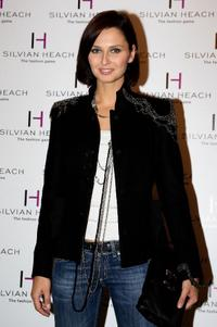 Anna Safroncik at the Silvian Heach Fashion Show.