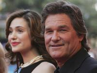 Kurt Russell and Emmy Rossum at the German premiere of