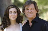 Kurt Russell and Emmy Rossum at the Italian photocall for