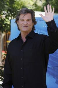 Kurt Russell at the Italian photocall for
