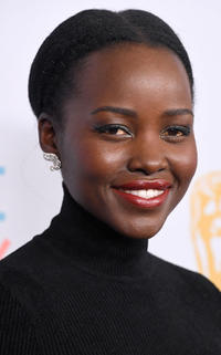 Lupita Nyong'o at the 2019 British Academy Brittanie Awards in Beverly Hills, California.
