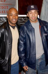 T.E. Russell and Allen Payne at the premiere of