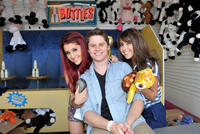 Ariana Grande, Matt Shively and Daniella Monet at the Make-A-Wish Foundation's Day of Fun in California.