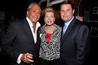 Gianni Russo, Lois Pope and author Paul Pope at the launch of book