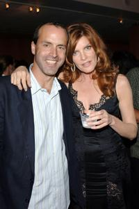 Rene Russo and DJ Caruso at the after party of
