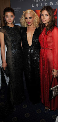 Gianna Jun, Gwen Stefani and Dasha Zhukova at the cocktail reception of