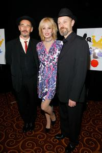 Mark Rylance, Joanna Lumley and David Hyde Pierce at the after party of the opening night of