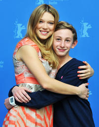 Lea Seydoux and Kacey Mottet Klein at the photocall of