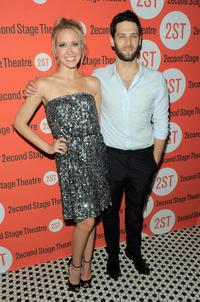 Anna Camp and Justin Bartha at the opening night after party of