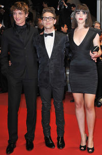 Niels Schneider, Xavier Dolan and Monia Chokri at the premiere of
