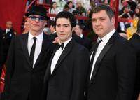 Jacques Audiard, Tahar Rahim and Thomas Bidegain at the 82nd Academy Awards.